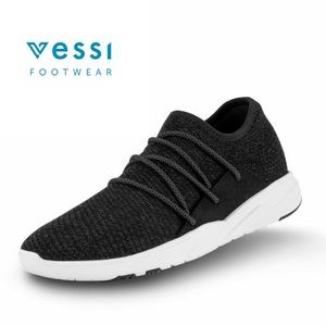 Vessi Cityscapes Sneakers in Black and White Soles
